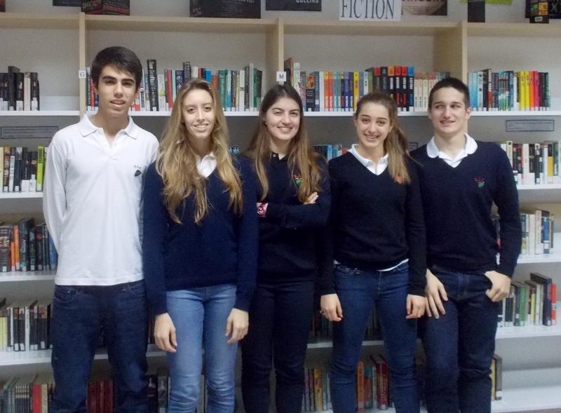 L-R Matteo, Alessia, Gilan, Camilla, Enrico