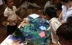 Camilla, Matteo, Francesco and Tommaso visit school project in Cambodia