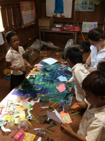 Camilla, Matteo, Francesco and Tommaso visit school project in Cambodia