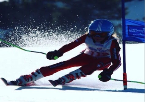 Margherita in action for the Cramont Ski Club.