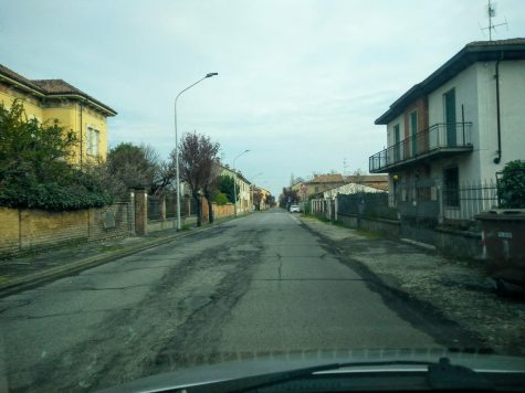 An empty street in Rivanazzano (PV)