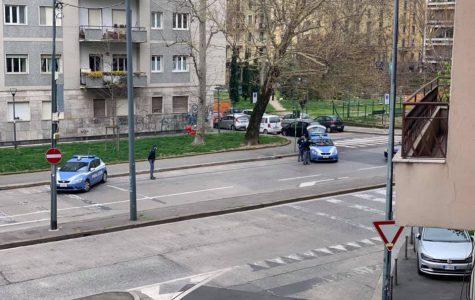 Police Road Blocks in Porta Romana, Milan