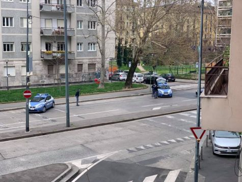 Police Road Blocks in Porta Romana, Milan