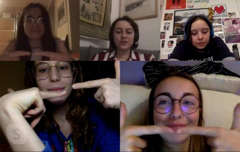 Skyping with friends
