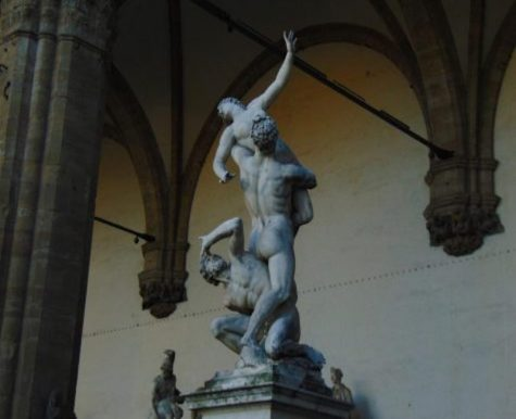 "The Rape of the Sabine Women"" in Loggia dei Lanzi, Florence"